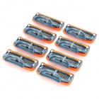 Replacement Steel Shaver Heads for Manual Razor - Orange + Blue + More (8 PCS)