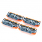 Replacement Steel Shaver Heads for Manual Razor - Orange + Grey + More (4 PCS)