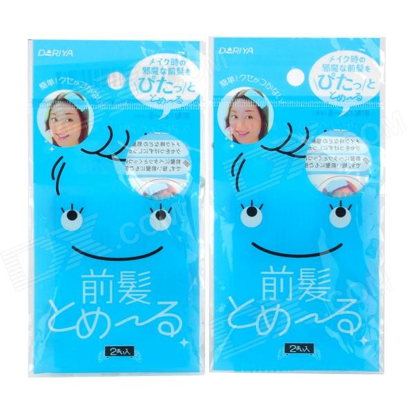 DIY Plastic Fringe Hair Sticker - Blue (2 x 2 Pack)