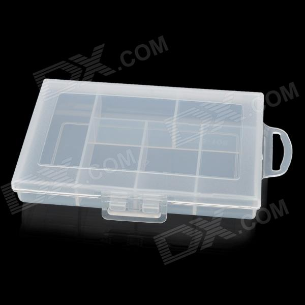 E108 6-Compartment Plastic Storage Box - Translucent WhiteStorage Supplies<br>ModelE108Quantity1ColorTranslucentQuantity1ColorTranslucentForm  ColorWhiteMaterialPPFeatures6Packing List<br>