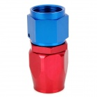 QC-10 Aluminum Alloy Soft Tube Connector Adapter - Red + Blue