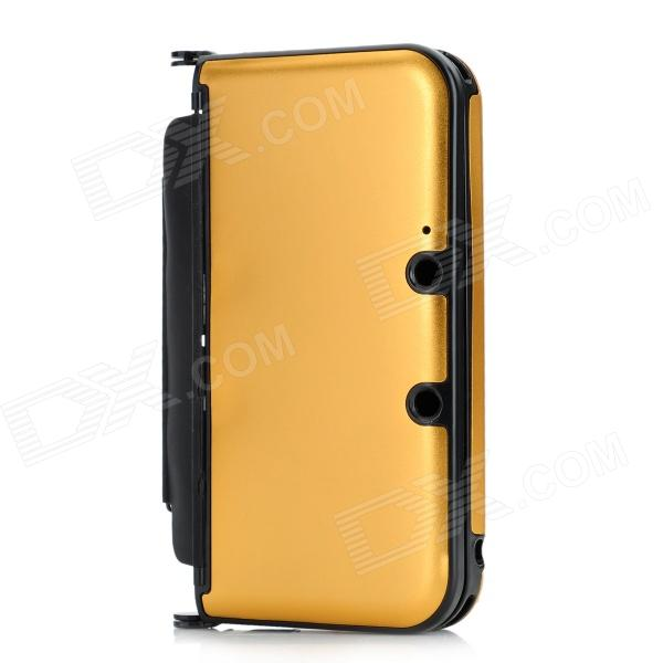 Protective Aluminum Flip Open Case for Nintendo 3DSLL / 3DSXL - Golden