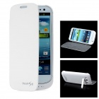 3200mAh External Battery Back Case w/ Protective Cover for Samsung i9300 Galaxy S3 - White