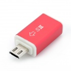 MHL HDMI AV Micro USB 11-Pin Male to 5-Pin Female Adapter for Samsung Galaxy S3 i9300 - Red