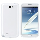 Protective Plastic Back Case for Samsung Galaxy Note 2 N7100 - Translucent + White
