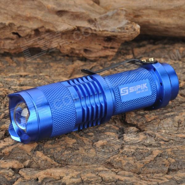 Sipik SK68-3W 160lm 1-Mode White Zooming Mini Flashlight - Blue (1 x AA / 14500)