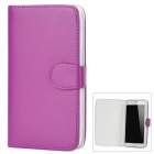 Protective PU Leather Case w/ Card Holder for Samsung Galaxy Note II N7100 - Purple