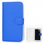 Protective PU Leather Case w/ Card Holder for Samsung Galaxy Note II N7100 - Blue