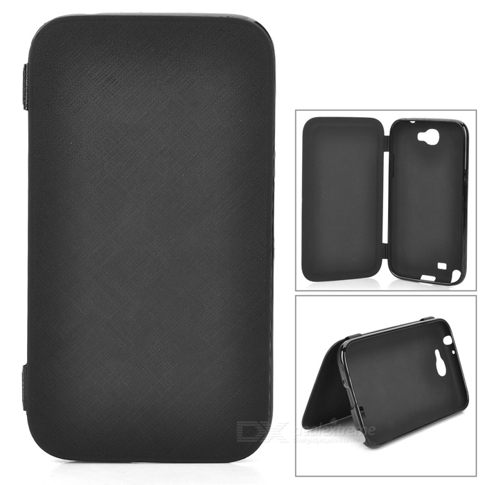 Protective Soft Plastic Case w/ Front Cover for Samsung Galaxy Note II N7100 - Black чехол клип кейс samsung protective standing cover great для samsung galaxy note 8 темно синий [ef rn950cnegru]