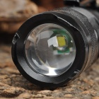 UltraFire SK6-3W 345lm 1-Mode White Light Zooming Flashlight - Black (1 x 14500)