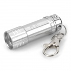 Portable Aluminum Alloy 3-LED White Light Flashlight Keychain - Silver (3 x LR44)