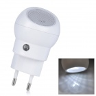 SN101 Mini 360 Degree Rotation 0.1W White Light Auto Sensor Night Lamp - White (2-Round-Pin Plug)