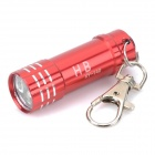 Portable Aluminum Alloy 3-LED White Light Flashlight Keychain - Red (3 x LR44)