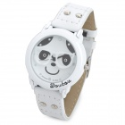 Cute Girl Style Woman's PU Band Quartz Analog Waterproof Wrist Watch - White (1 x 377)