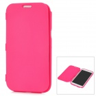 Protective Soft Plastic Case w/ Front Cover for Samsung Galaxy Note II N7100 - Deep Pink