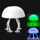 Coole Jellyfish Stil 0.2W 2-Mode 6-LED Grün / Blau Light Table Desk Lamp - White