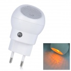 SN101 Mini 360 Degree Rotation 0.1W Yellow Light Auto Sensor Night Lamp - White (2-Round-Pin Plug)