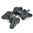 SZ-702 USB Dual-Vibration Game Controllers Set - Black