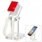 VR Security Display Holder for HTC / Samsung / Mobile Phone - White + Transparent