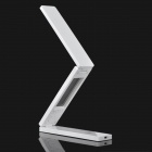 Folding Touch Control White 18-LED Table Light Lamp w/ Calendar / Temperature Display - White