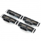 Replacement Steel Shaver Heads for Manual Razor - Black + Grey + More (4 PCS)