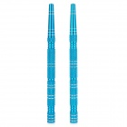 MP032 DIY Motorcycle Aluminum Alloy Long Rocket Screw Caps - Blue (2 PCS)