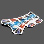 Protective Fish Bone Style Five-Pointed Star Pattern Motorcycle Oil Tank Sticker - Multi-Color