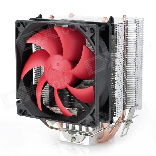 все цены на PCCOOLER HP-9219 Mute Version 2200RPM CPU Heatsink + Cooling Fan for Desktop - Red + Black + Silver онлайн