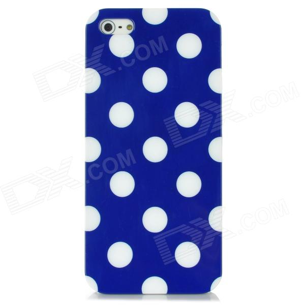 Protective Polka Dot Back Case for Iphone 5 - Blue + White handpainted cactus and polka dot printed pillow case