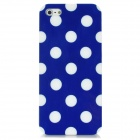 Protective Polka Dot Back Case for Iphone 5 - Blue + White