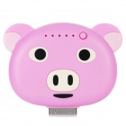 ILY Cute Cartoon Pig Stil 1900mAh Mobile Power Station für 4 / 4S - Pink