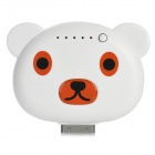 ILY Cute Cartoon Bear Style 1900mAh Mobile Power Station für iPhone 4 / 4S - Weiss