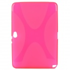 "Protective ""X"" Style TPU Back Case for Samsung Galaxy Note 10.1 N8000 - Deep Pink"