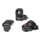 PT04S1 One Triggered Two 4-Ch Wireless Flash Trigger Set for Sony SLR - Black