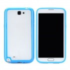 Protective Plastic Case for Samsung Galaxy Note 2 N7100 - Blue + Transparent