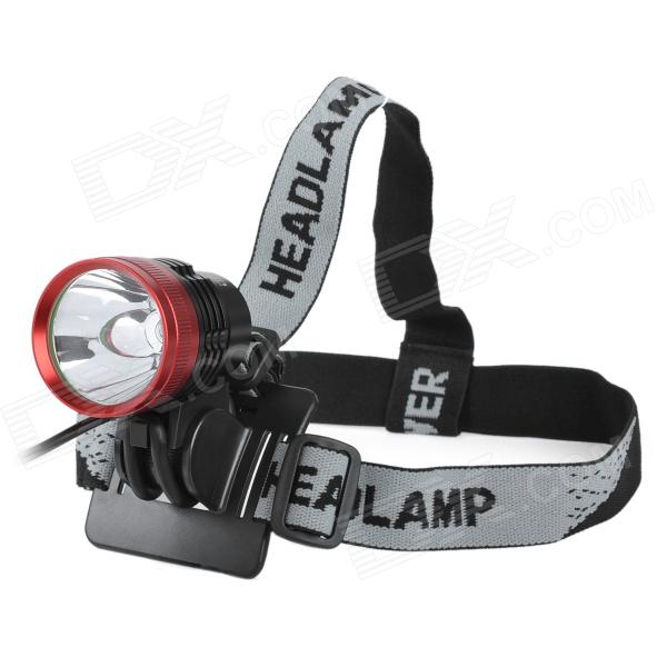 UltraFire 900lm 3-Mode White Light Bike Light Headlamp - Red + Black (4 x 18650)