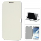 Protective PU Leather Case for Samsung Galaxy Note II N7100 - White