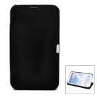Protective Flip Cover PU Leather Case for Samsung Galaxy Note 2 N7100 - Black