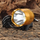 Cree XM-L T6 600lm 3-Mode White Crown Head Bike Light Headlamp - Golden (4 x 18650)