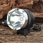 Cree XM-L T6 600lm 3-Mode White Headlamp Bike Light - Black + Silver (4 x 18650)