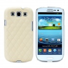 Protective Sheepskin Leather + Plastic Case for Samsung Galaxy S3 i9300 - Beige