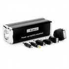 YDDY-1 9000mAh Mobile Power Battery Charger w/ Flashlight / Adapters - Black