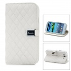 Protective Lambskin Flip Cover Case for Samsung i9300 Galaxy S3 - White