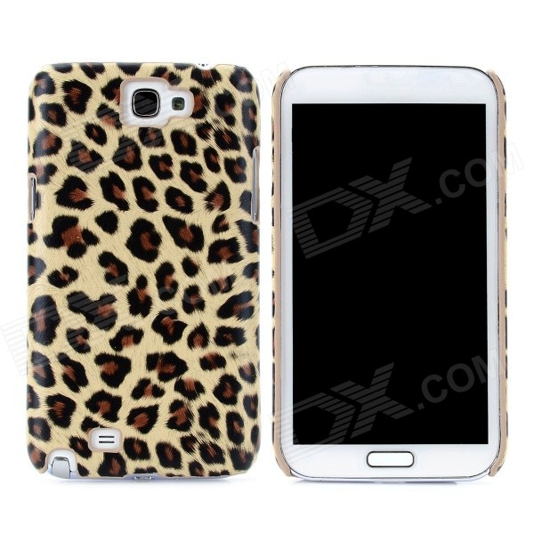 stylish pu leather sleeve pouch case for samsung galaxy note ii n7100 htc one x brown Yellow Leopard Pattern Protective PU Leather Case for Samsung Galaxy Note 2 N7100
