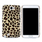 Yellow Leopard Pattern Protective PU Leather Case for Samsung Galaxy Note 2 N7100
