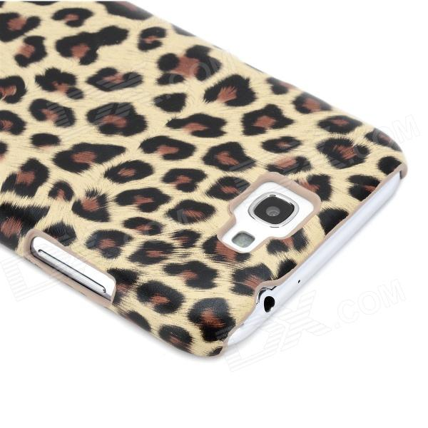 Yellow Leopard Pattern Protective PU Leather Case for ...