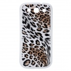 Leopard Pattern Protective Battery Back Cover Case for Samsung Galaxy S3 i9300 - White + Black