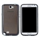 Protective PVC + PC Plastic Case for Samsung Galaxy Note 2 N7100 - Black + Translucent Black