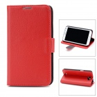 Protective Flip Cover PU-Leder Etui für Samsung Galaxy Note 2 N7100 - Red