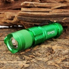 Sipik SK68-3W Cree XR-E Q3 160lm 1-Mode White Zooming Mini Flashlight - Green (1 x AA / 14500)